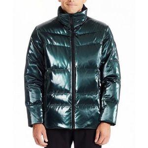 TUMI Men's High Shine Luxe Down Puffer Jacket, XXL